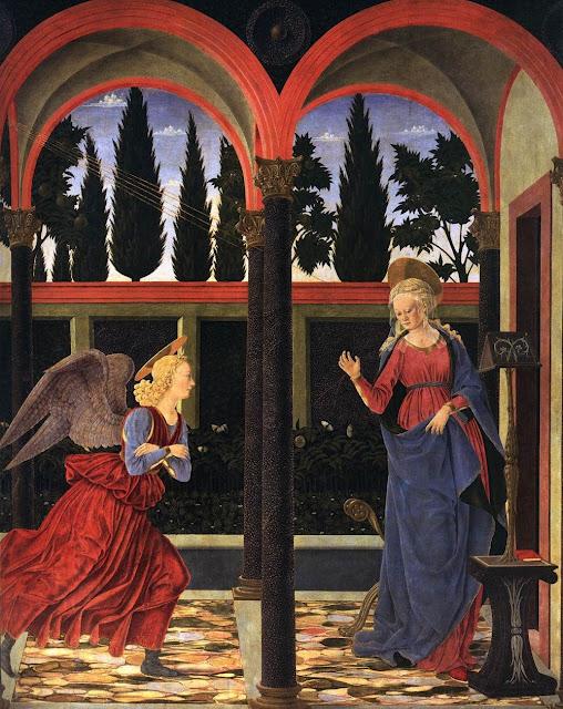 Alessio Baldovinetti, 1447: Annunciation
