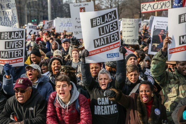 #BlackLivesMatter demonstration last Saturday in Washington. (Evelyn Hockstein/Washington Post)