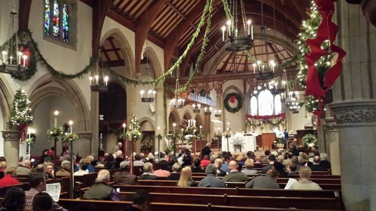 The First Sunday after Christmas 2014 at All Saints', Pasadena, California. Christmas lasts 12 days. (Tim Hawks-Malczynski)