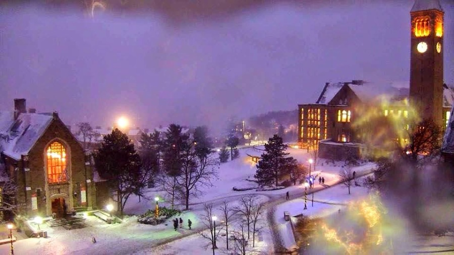 Cornell University campus last Wednesday. The chapel was designed by Ralph Adams Cram. (anonymous)