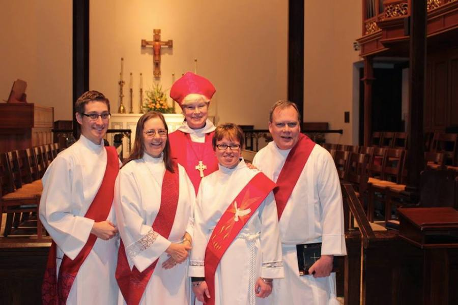 The Feast of the Conversion of St. Paul is a favorite time for ordinations, and Catherine M. Waynick, the Bishop of Indianapolis, used the occasion to make four new deacons Monday at Christ Church Cathedral. (Kathy Copas, Diocese of Indianapolis)