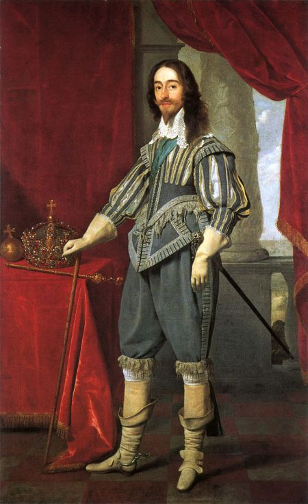 The U.S.-based Episcopal Church has never authorized the feast of King Charles the Martyr (nor has this site ever observed it), but it keeps 30 January open for those parishes that wish to; however, the day is kept in several other Anglican churches – in England it was formerly a red-letter day – so we include him informally today. Charles remains a hero of the faith to Anglo-Catholics, and something of a traitor to Anglo-Protestants; for hagiography, search for the English Civil War. (Daniel Mytens, National Portrait Gallery, London)