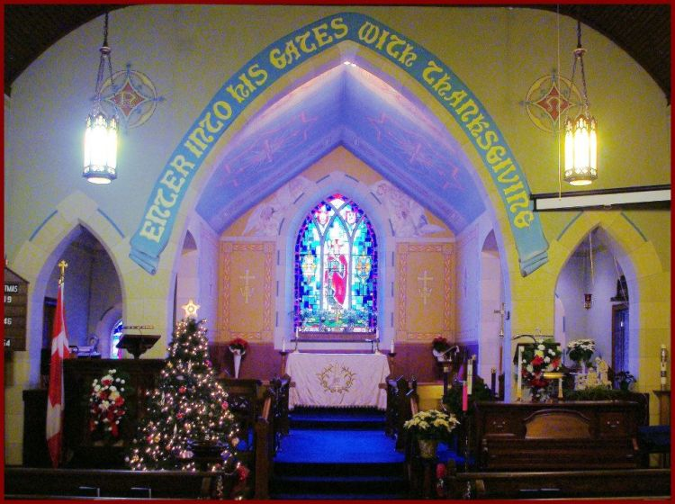 Enter with thanksgiving: Christmas two years ago at St. Paul's, Port Devon, Ontario. (Evan A)