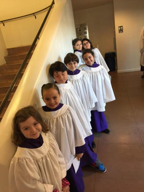 Members of the St. Nicholas Choir for children lined up before the 10 o'clock Eucharist last Sunday at Trinity Cathedral, Phoenix, Arizona. (via Twitter)