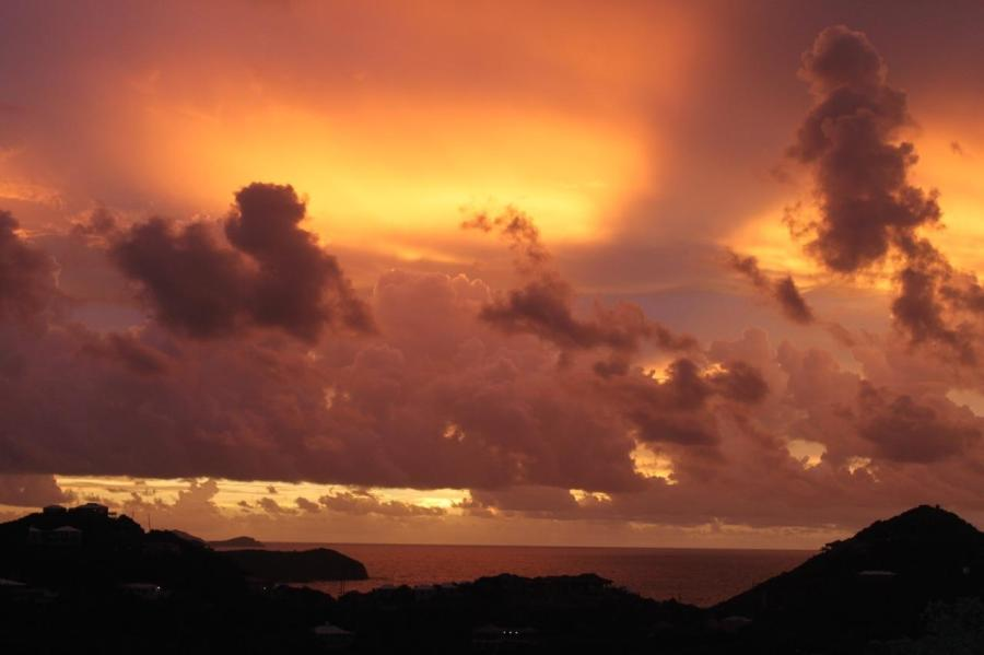 For the beauty of the earth: sunset over the United States Virgin Islands.