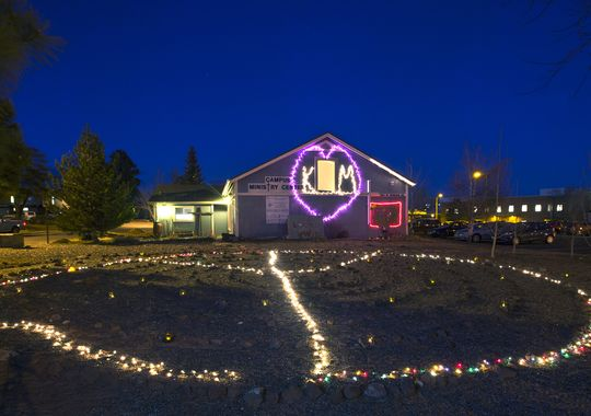 A memorial to Kayla Mueller, the young American missionary killed by ISIS in Syria, on the campus of Northern Arizona University near her home. (Tom Tingle/The Arizona Republic)
