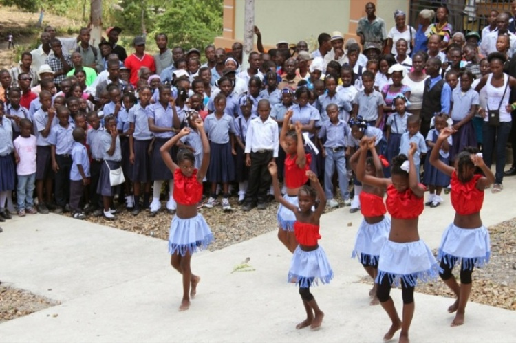 Dedication of St. André's School, Mithon, Haiti, 2014, built by the Episcopal Diocese of Indianapolis.