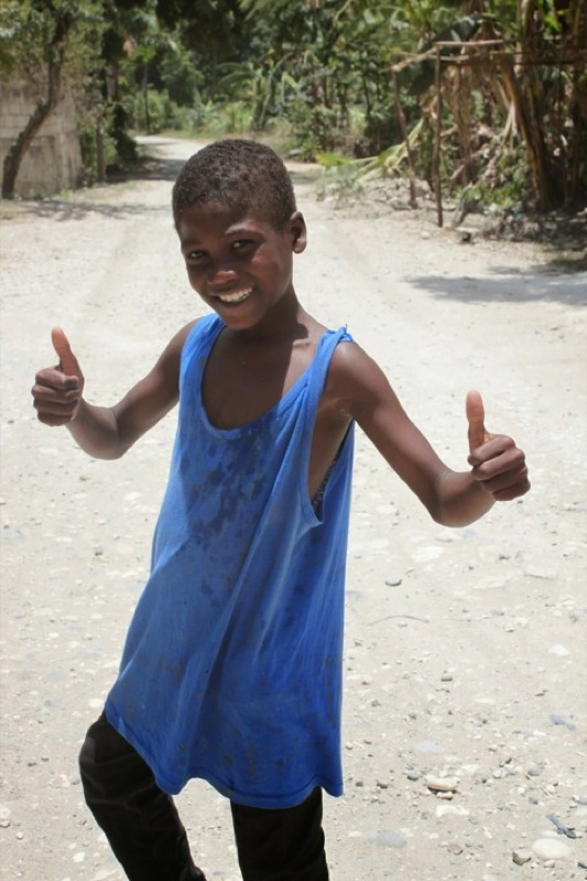 Kid in Mithon, Haiti.