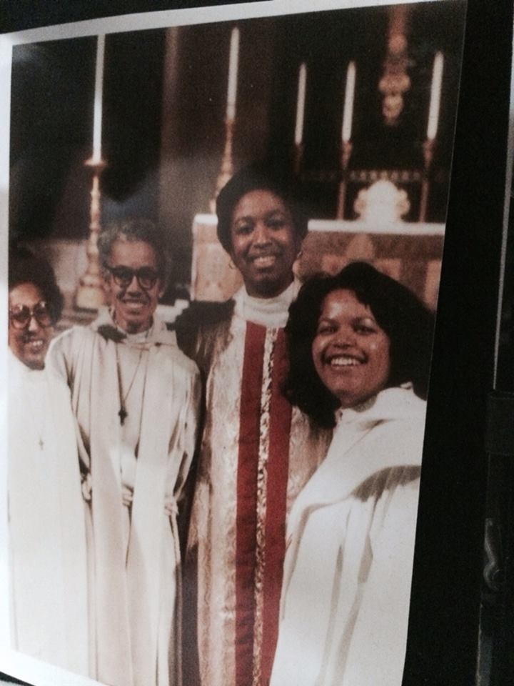 This photo is a definite candidate for #BlackHistoryMonth: it shows four of the earliest and most prominent African-American women priests, the Reverends Sandye A. Wilson, Dr. Pauli Murray, Barbara Harris and Gayle Harris in 1981. Both Harrises, who are not related, eventually became Suffragan Bishops of Massachusetts; Barbara Harris was the first woman bishop in Anglican history. (Sandye Wilson on Facebook)