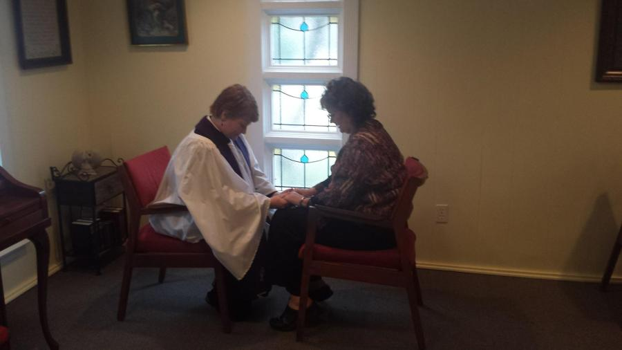 Here's another photo-illustration of private confession; Lent is a great time for this sacrament of reconciliation. A few people are now seeking it out via Skype or FaceTime, and I've asked my rector about it. (The Rev. Amy Peden Haynie)