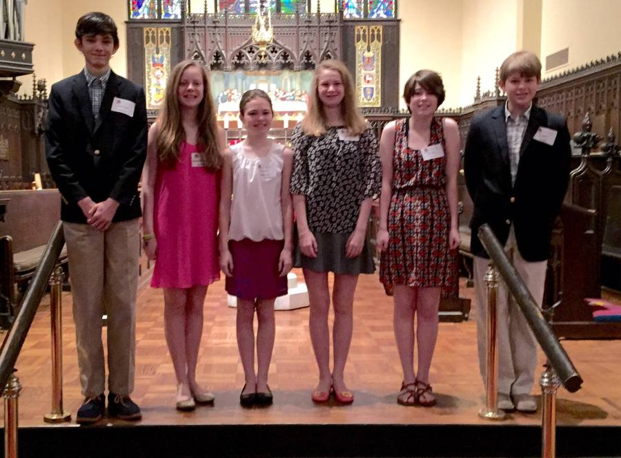 """Rite 13″ class at Grace-St. Luke's, Memphis, Tennessee, celebrating the journey to adulthood of teenagers. It's both an educational experience and a rite of passage, with similarities to bar/bat mitzvah and quinceañera. (G-SL on Facebook)"