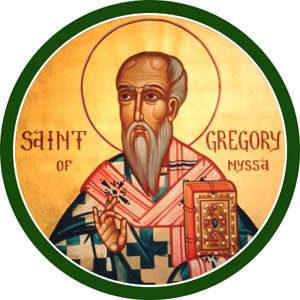 "Gregory's older brother Basil (the Great) forced him into becoming a bishop because Basil needed the help; he was waging a fierce battle for the trinitarian Nicene faith against the heretical Emperor Valens, who sought to undercut him by dividing the metropolitan See of Cappodocia. Thus Basil took on Gregory as his suffragan bishop of Nyssa, ten miles away. Gregory was awful at being a bishop, but he picked up the fight - and when Basil died suddenly at a young age, followed by their older sister Macrina, who taught them everything they knew, he was ready to defend the Trinitarian belief. Valens and the other Arians thought Jesus a lesser person than God the Father, and if they had prevailed, it's doubtful the Church would have survived. Christ would have been relegated to ""prophet"" or ""great teacher"" status, not the reconciling Son and Savior we worship today. (Iconographer unknown)"