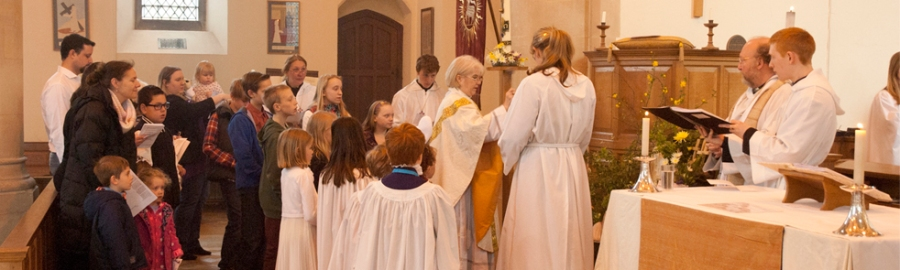 All Saints' Hockerill, in Bishop's Stortford, Hertfordshire, England, the home parish of Deacon Susan, one of our webcasters. (parish website)