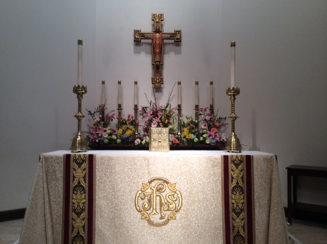 Easter altar last year at Christ Church Cathedral, Indianapolis. (Sally Cassidy)