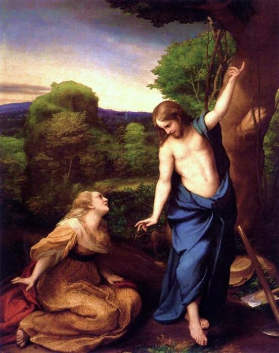 Correggio: Mary and the Resurrected Christ
