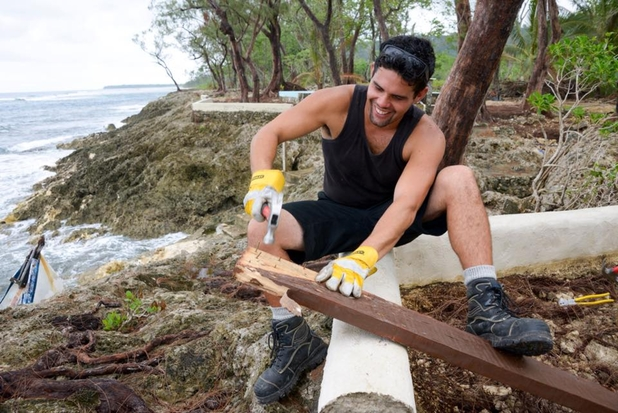 New Zealanders are helping to rebuild Vanuatu, devastated after Cyclone Pam. This shot by Ruth Keber appeared on the Bay of Plenty Times website, while The Timaru Herald reports that Anglican churches in South Canterbury have acquired enough donated roofing iron to rebuild 10 homes, a project they call Iron Aid.