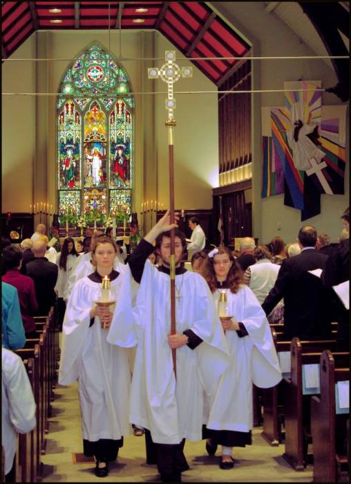 The recessional Easter Day last year at St. George's, London, Ontario. (Evan A)