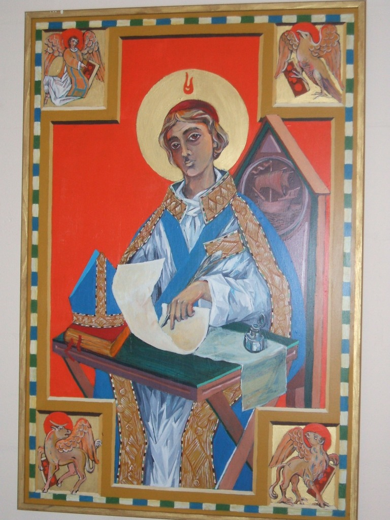 Patronal icon at St. Anselm's Chapel Center at the University of South Florida. (photo: the Rev. Deacon Alisa Carmichael)