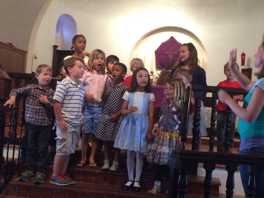 Youth Sunday last month at St. Clement's by-the-Sea, San Clemente, California. Children are our hope, even when we have no other. (Katrina Soto)
