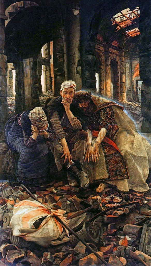 James Tissot, 1900: Christ in the Ruins - of the Church, evidently; look at all the architectural details.
