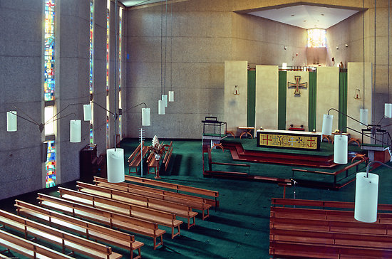 Holy Cross Cathedral, Geraldton in the Diocese of North West Australia. This geographically largest of all Anglican dioceses declared itself in communion with American schismatics – though Canterbury is not – last spring and does not ordain women priests. (Fred Mitchell)