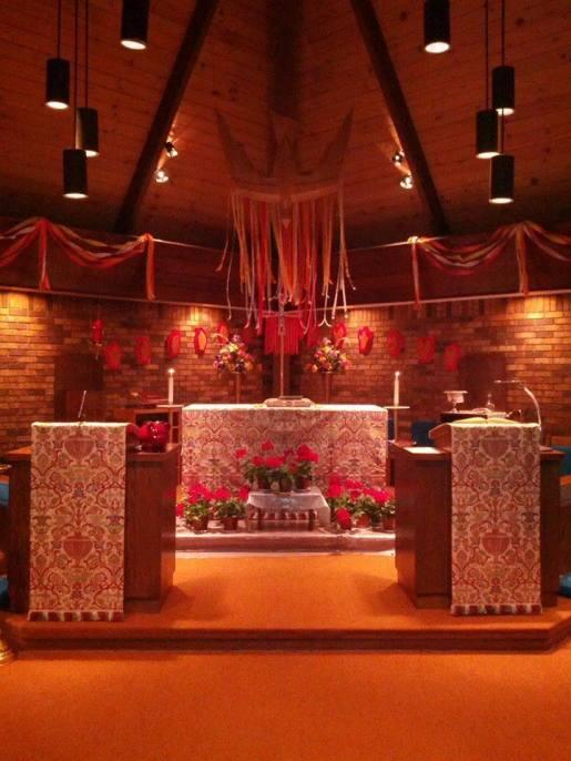 Pentecost 2014, Holy Apostles, Mitchell, Nebraska. (parish photo)