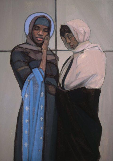 Janet McKenzie: Visitation of Mary and Elizabeth