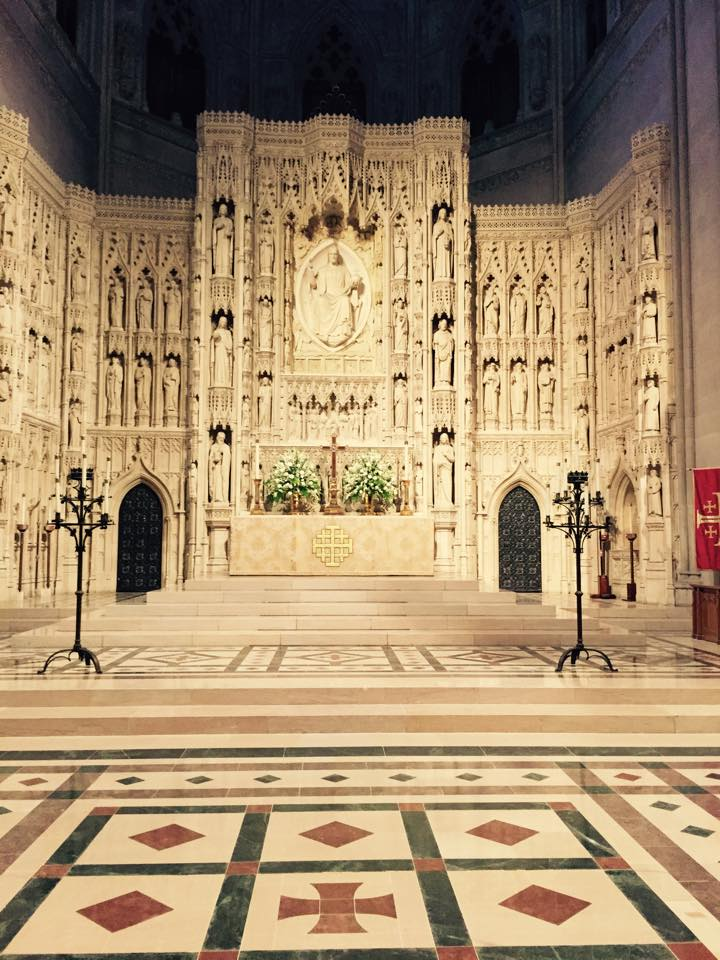 The High Altar at Washington National Cathedral, taken this week by Daniel Pigg.