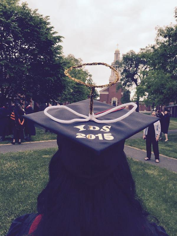 This is the season for school graduations in the United States, and the tradition at Yale Divinity School is to put on halos and march in procession to downtown New Haven, Connecticut, as they did once again last Monday. (YDS on Twitter)