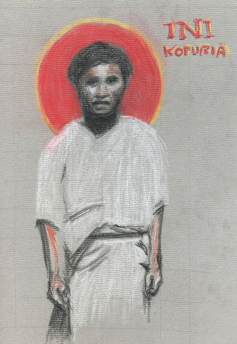 Ini Kopuria showed an early inclination to the religious life while still in school; one Ash Wednesday he was keeping a rule of silence, when a teacher confronted him and criticized the practice. He kept to his discipline and answered by letter. But like a lot of people he also resisted his call, and after graduation became a policeman instead of a teacher as expected. But it taught him about peacemaking as well as sin, and once he finally established the Melanesian Brotherhood he applied all he knew to the Order's structure and ethos. Members number in the hundreds; it may be the largest religious order in the Anglican Communion. (The Rev. Tobias S. Haller, BSG)