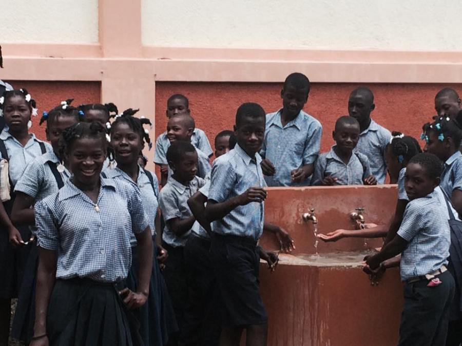 Our kids, our well, our school: St. Andre's, Mithon, Haiti. Let anyone who is thirsty drink! (Père Jean Michelin St. Louis)