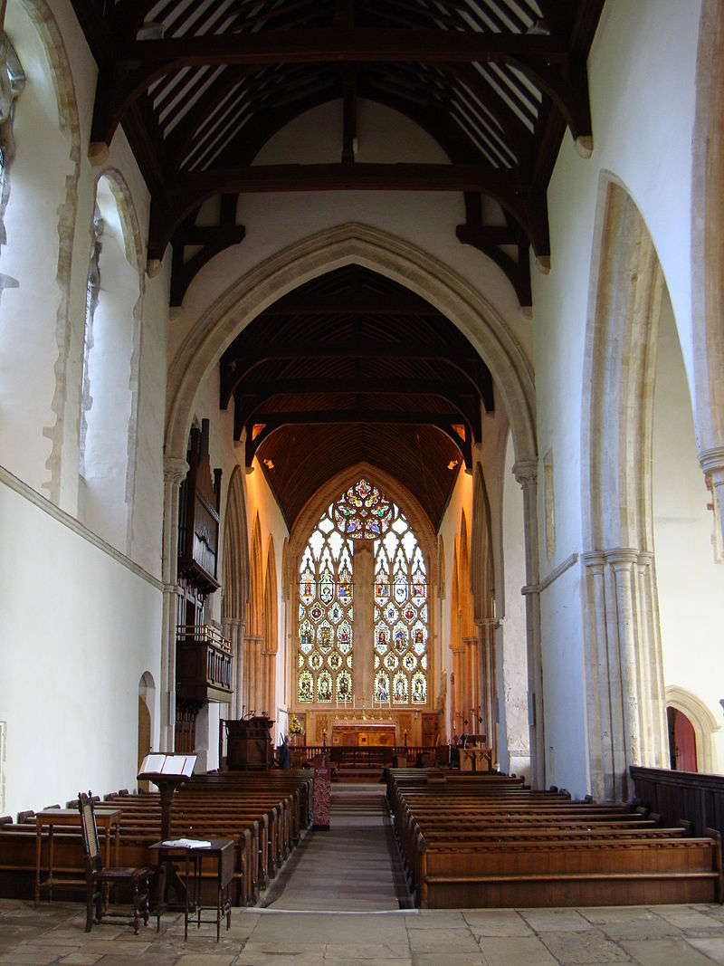 Dorchester Abbey, a Norman chapel built on the site of a Saxon cathedral, eight miles southeast of Oxford. It's now a parish church. (John Armagh)