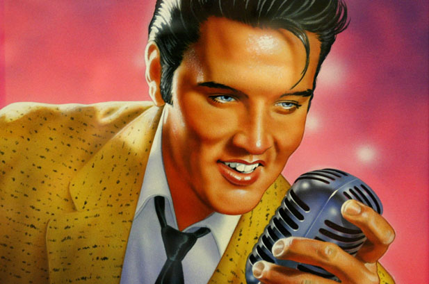 With roots in the blues, country and Gospel music, Elvis helped synthesize a sound called rock 'n' roll. (U.S. Postal Service)