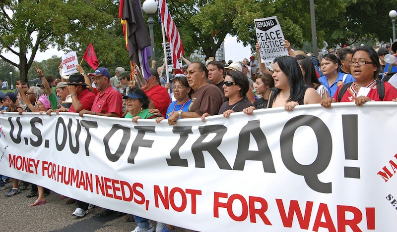 Americans have the right to protest war and vote out politicians who support it. (livescience.com)