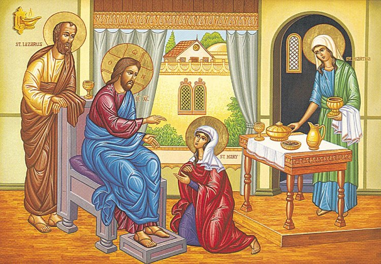 We can get so caught up in the fact that Jesus is the Son of God that we forget that to Mary, Martha and Lazarus he was first a friend of the family. He lived his life on a human scale, just as we do. Of course in his case, true friendship required that they also understand and support who he really was. (communio.stblogs.org)