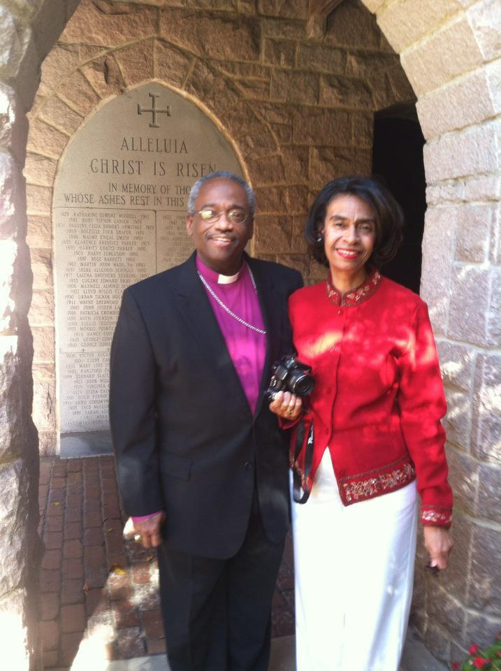 Michael and Sharon Curry; he was elected the next Presiding Bishop of The Episcopal Church last week, to take office in November for a nine-year term. (Facebook)