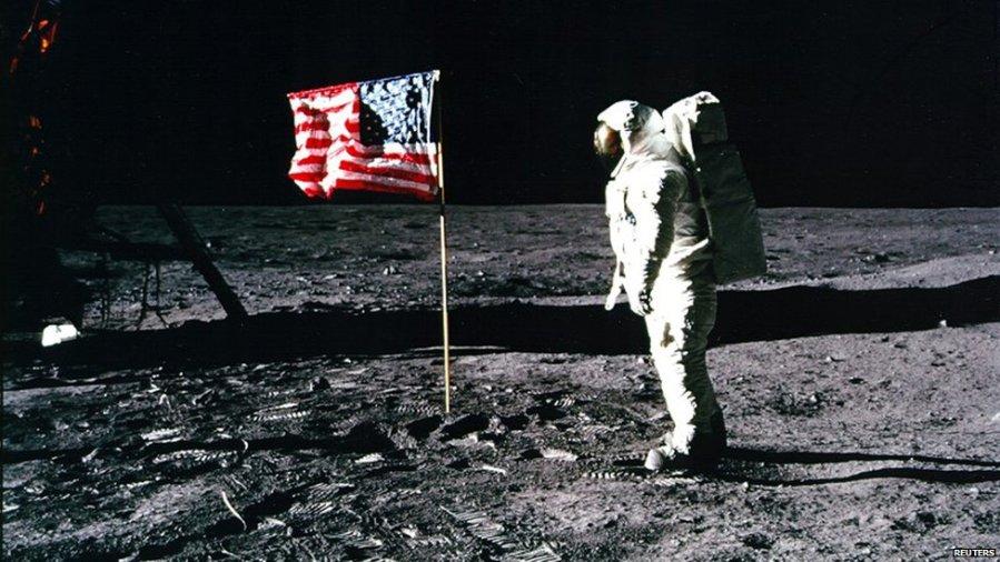 Neil Armstrong on the Moon, 1969 (NASA)