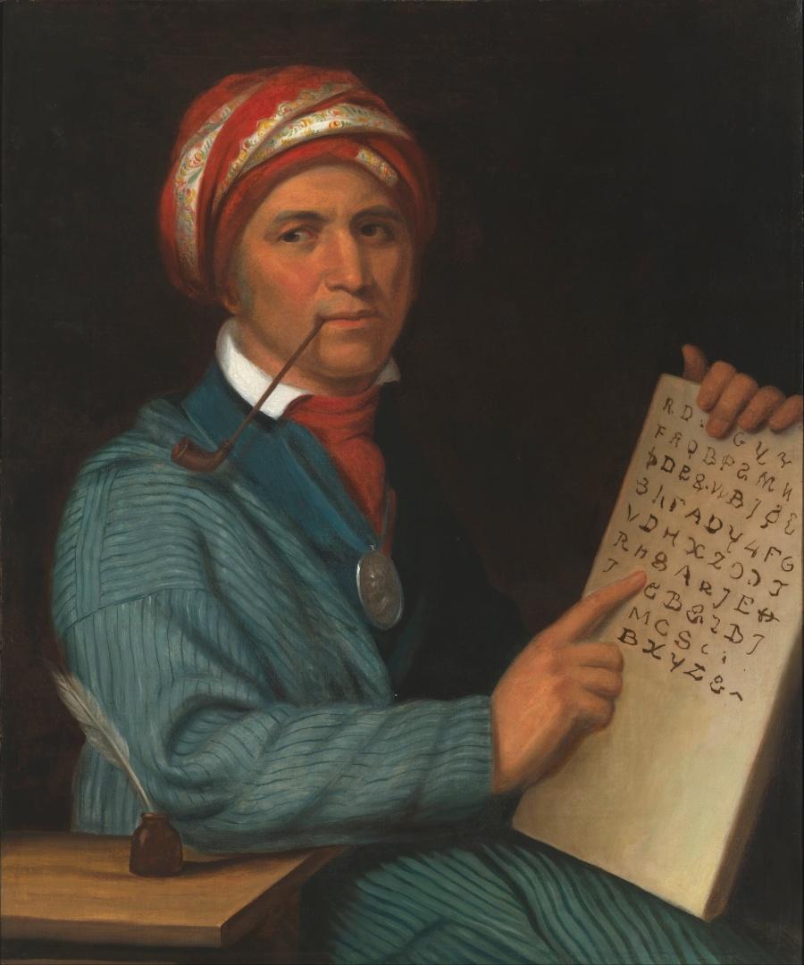 Sequoyah, inventor of the Tsalagi (Cherokee) alphabet. (Henry Inman)
