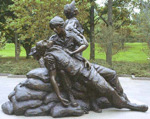 The Vietnam Women's Memorial, on the National Mall in Washington.