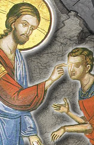 Healing a blind man (Coptic Orthodox Church Fathers)