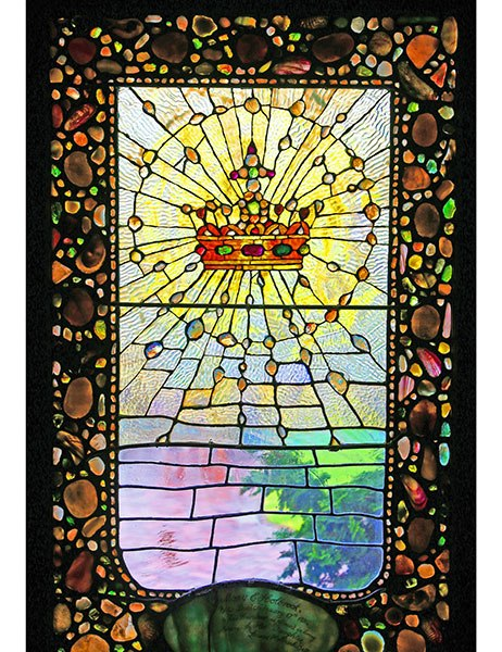 Tiffany window of the kingship of Christ at St. Andrew's Dune Church, Southampton, New York. (source unknown)