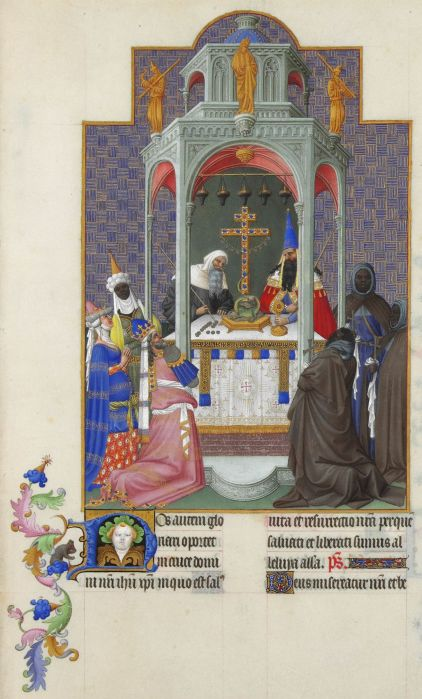 Exaltation of the Holy Cross, from the Très Riches Heures (Book of the Hours) of the Duc de Berry (Musée Condé, Chantilly)