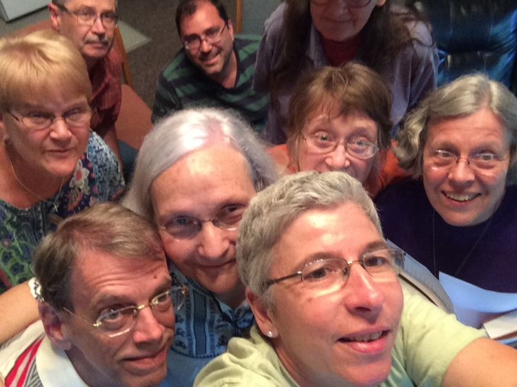 This selfie from last year's Daily Office retreat reminds us, on this 12th anniversary of our network websites, of some of the 7000 subscribers and members who form a community to support the work you see here every day: our chaplain, our missioner, board members, donors and most of all, people who pray. After 10,000 posts, millions of site visits and e-mails and more than 1700 daily webcasts, we hope to continue for generations to come. Thank you for being part of us. (Maria L. Evans, lower right)