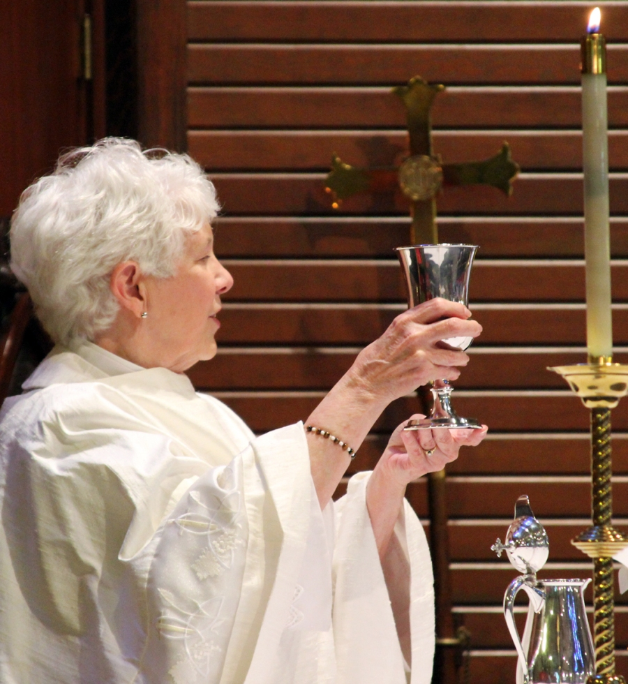 The Rev. Lavonne Seifert, priest-in-charge, made sure everyone drank the Blood of Christ from Miss Mai's segregated chalice. In her sermon, Ms. Seifert emphasized that parishioners would have to confront future challenges to racism in their community, that their penitence couldn't be