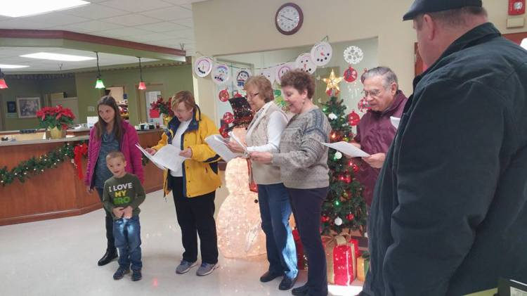 Members of St. Paul's, New Albany, Indiana went caroling Sunday night at six nursing homes, provoking smiles and recognition. Of all the people we put out of our minds at Christmastime, the frail elderly are prominent among them. They're not foreign refugees, disfavoured minorities or the allegedly undeserving poor; they are, and ought still to be, members of our communities and families. Go and visit, take some kids with you, you'll be glad you did. (Kathy Copas)