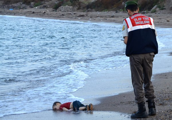 Alan Kurdi, age 2. Kurdish, a refugee from Syria, drowned in September 2015 on the shore of a resort in Turkey. (Nilufer Demir/Agence France-Presse)