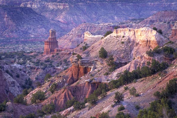 For the beauty of the Earth: Palo Duro Canyon, Texas. The rock formation, center left, is known as the Lighthouse.