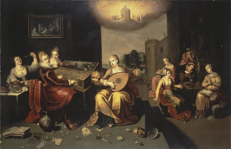 Hieronymus Francken the Younger, c. 1616: Parable of the Wise and Foolish Virgins.