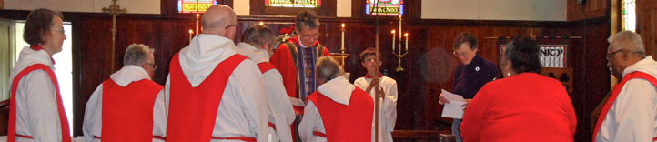 Service of Profession, Community of the Paraclete; members of this community of men and women take annual vows for at least three years before committing for life. (community website)