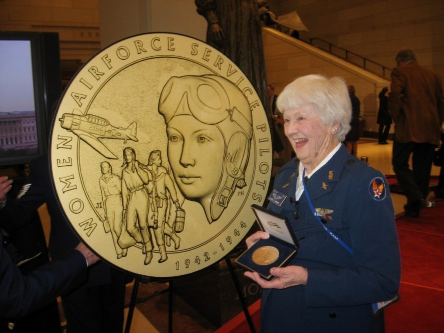 Elaine Harmon, a U.S. Women's Airforce Service Pilot during World War II, has died, and the premier military cemetery in the United States refuses to bury her remains, despite her winning the Congressional Gold Medal with other WASPs in 2010. The superintendent of Arlington National Cemetery outside Washington, D.C. says a change in regulations prevents her ashes from being inurned – next to other WASPS who have been laid to rest there. There are only about 100 WASPS left, all in their 90s, and they have suffered discrimination since they first joined up. They trained male pilots, flew aircraft across country to meet logistical needs and took live fire from recruits during target practice, but were not recognized as part of the regular Army until 1977, when the existence of the WASPs was declassified as young women were formally admitted for pilot training in the Air Force. The rationale, according to The Washington Post, for a lifetime of discrimination and secrecy: the Army didn't want Japanese generals to mock them for letting women train men. (Deaconess Bedell probably knew exactly what the WASPs went through.)